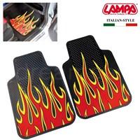 Lampa Fire&Furious Kırmızı-Siyah Kauçuk Ön Paspas 2 Ad. 65 cm x 44 cm 24281