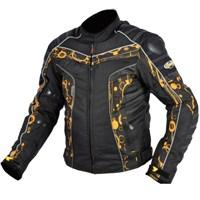 Prosev 7103 Kışlık Sport Motosiklet Montu (Sarı-Siyah)