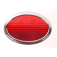 Schwer Reflektör Kırmızı Oval Krom Çerçeveli
