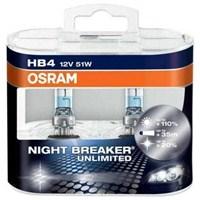 OSRAM Night Breaker Unlimited HB4 Ampul 2 li Set+ %110 Fazla Beyaz Gün Işığı 4000K
