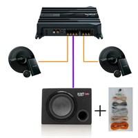 Sony SET-1004GSW Amfi,Mid Takımı ve Kabinli Subwoofer Oto Ses Sistemi Seti