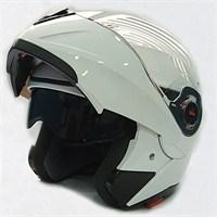 FF-961 Çeneden Açılır Kask Güneş Vizörlü Beyaz + Maske Hediyeli