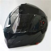 FF-961 Çeneden Açılır Kask Güneş Vizörlü Parlak Siyah + Maske Hediyeli