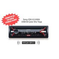 Sony CDX-G1100U Türkçe Menülü CD/USB Oto Teyp