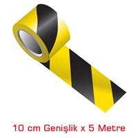Modacar Siyah/Sarı 10 Cm Çarpraz Fosfor Bant 548815
