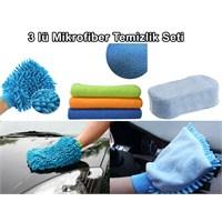 Borup 3lü Mikrofiber Temizlik Seti