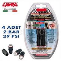 Lampa 2 Bar (29 Psi) Lastik Basınç Göstergeli Sibop Kapağı 4 Adet 02483