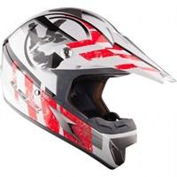 LS2 MX 433 Stripe Kross Kaskı Camsız Model (Kırmızı-Beyaz)