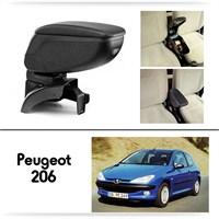 Schwer Peugeot 206 Plus Koltuk Arası SİYAH Kol Dayama Kolçağı-8438