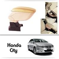 Schwer Honda City Koltuk Arası BEJ Kol Dayama Kolçağı-8519
