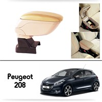 Schwer Peugeot 208 Koltuk Arası BEJ Kol Dayama Kolçağı-8535