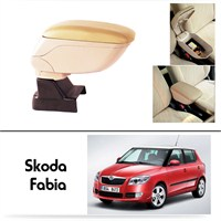 Schwer Skoda Fabia Koltuk Arası BEJ Kol Dayama Kolçağı-8544