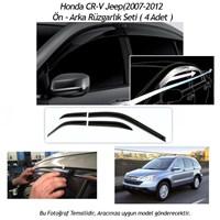 Schwer Honda CR-V Jeep(2007-2012) Ön-Arka 4 Cam Rüzgarlık Seti-8215