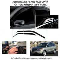Schwer Hyundai Santa-Fe Jeep (2005-2010) Ön-Arka 4 Cam Rüzgarlık Seti-8216
