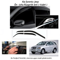 Schwer Kia Sportage Jeep (2005 - 2010 )Ön-Arka 4 Cam Rüzgarlık Seti-8218