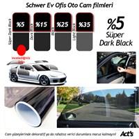 Schwer 75 Cm x 8 Mt Rulo Cam filmi %5 Süper Dark Black-8329