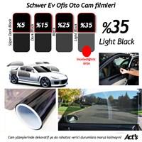 Schwer 75 Cm x 10 Mt Rulo Cam filmi %35 Light Black-8336