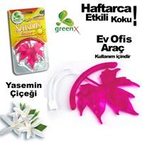 Automix Asmalı 3D Yaprak Koku Yasemin Çiçekleri