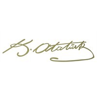 ModaCar 20 Cm Altın Rengi K.Atatürk İmza Sticker 06a073