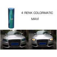 ModaCar 4 RENK COLORMATIC MAVİ Far Stop Filmi 102410