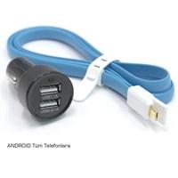 ModaCar 2 USB Girişli ANDROID Tüm Telefonlara Araç İçi Şarj Seti 102436