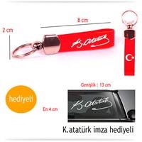 Acts Silikon K.Atatürk Kırmızı Anahtarlık 8594