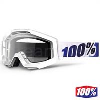 %100 The Strata Ice Age Motocross Gözlük Şeffaf Lens