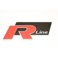 R line 3D Görünümlü Sticker 11 x 5 cm