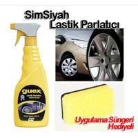 Guex Simsiyah Lastik Parlatıcı ve Temizleyici Sprey SÜNGERLİ 500 ml