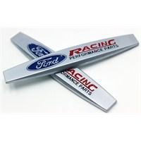 ModaCar Araç Arka ve Yan İçin Metal Ford Racing Yazı 103055