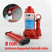 Schwer Hidrolik Kriko 8 Ton Kaldırma Kapasiteli 9410