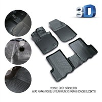 Volkswagen Scirocco 2008 Sonrası 3D Kauçuk Paspas Siyah