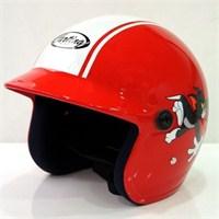 Yohe A005 Yarım Camlı Çocuk Kaskı (Kırmızı)