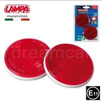 Lampa E11 Belgeli Kırmızı Reflektör Yuvarlak 2 Ad. 20546