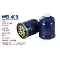 Wunder PEUGEOT 106 1.4 D - 1.5 D (CS 449A) Mazot Filtresi OEM NO:1906.23-A8
