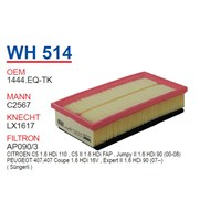 Wunder PEUGEOT 407 1.6 HDI DV6TED4 MOTOR Hava Filtresi OEM NO:1444.EQ-TK