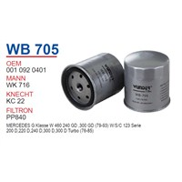 Wunder MERCEDES 123 KASA 602 MOTOR Mazot Filtresi OEM NO:10920401