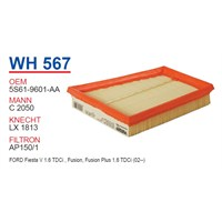 Wunder FORD FiESTA - FUSiON 1.6 TDCİ (ÜÇGEN) Hava Filtresi OEM NO: 5S61-9601-AA