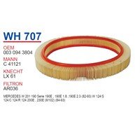 Wunder MERCEDES 124 KASA 200 E - 201 KASA 190 E Hava Filtresi OEM NO:30943804