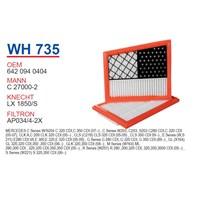 Wunder MERCEDES C320 CDİ - C350 CDİ - CLK320 CDİ 02-09 Hava Filtresi OEM NO:6420940404