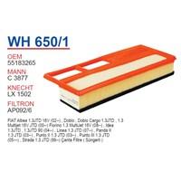 Wunder FIAT ALBEA - PALiO - DOBLO 1.3 JTD (SÜNGERLi) Hava Filtresi OEM NO: 55183265
