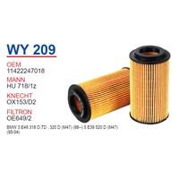 Wunder BMW E46 320 d - E39 520 d M47 Yağ Filtresi OEM NO:11422247018