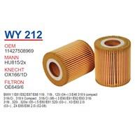 Wunder BMW E87 116i-118i-120i E46 316i N42-N46 Yağ Filtresi OEM NO:11427508969