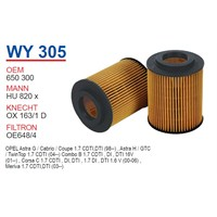 Wunder OPEL ASTRA G 1.7 DTI - CORSA C 1.7 DTI Yağ Filtresi OEM NO: 650300