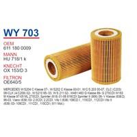 Wunder MERCEDES C220 - C270 - E220 - E270 CDI - VITO - ML270 Yağ Filtresi OEM NO:6111800009