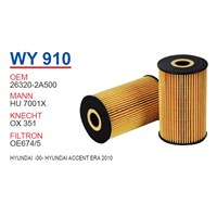 Wunder HYUNDAI İ30 Yağ Filtresi OEMNO:26320-2A500