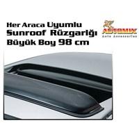 Automix Her Araca Uyumlu Sunroof Tavan Rüzgarlığı Büyük Boy 98 cm