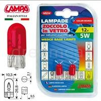 Lampa Kırmızı 5W 12V Dipsiz Gösterge Ampulü 2 Ad. 58363
