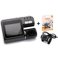 Goplay Gp101 HD-DVR 2.5 Hareket Sensörlü Çift Lensli Araç İçi Kamera Türkçe Menü+8 GB Kart Hediyeli