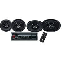 Sony DXB-6916 USBli Oto Teyp ve Hoparlörlü Mega Bass Performans Seti